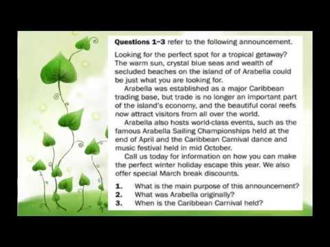 TOEIC LISTENING - PART 4 - TRANSCRIPT
