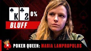 Maria Lampropulos is a Ruthless Bluffer  ♠️ Poker Queens  ♠️  PokerStars