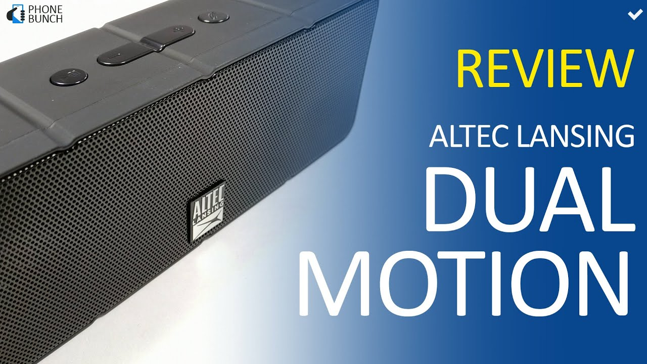 Altec Lansing Dual Motion Review Best Bud Bluetooth Speaker under Rs 2000