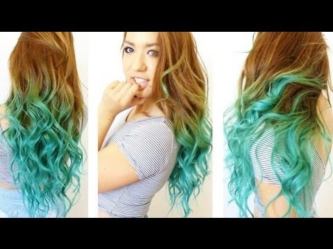 turquoise ombre tutorial