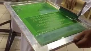 процесс печати шелкографии на карусельном станке