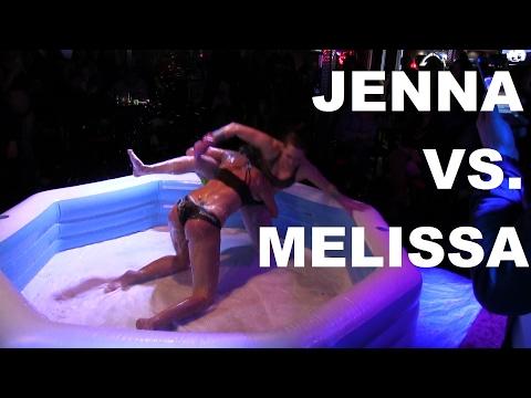 This Fighter Quit Smoking!   Jenna Vs. Melissa   Oil Wrestling   Season 2   Night 3 thumbnail