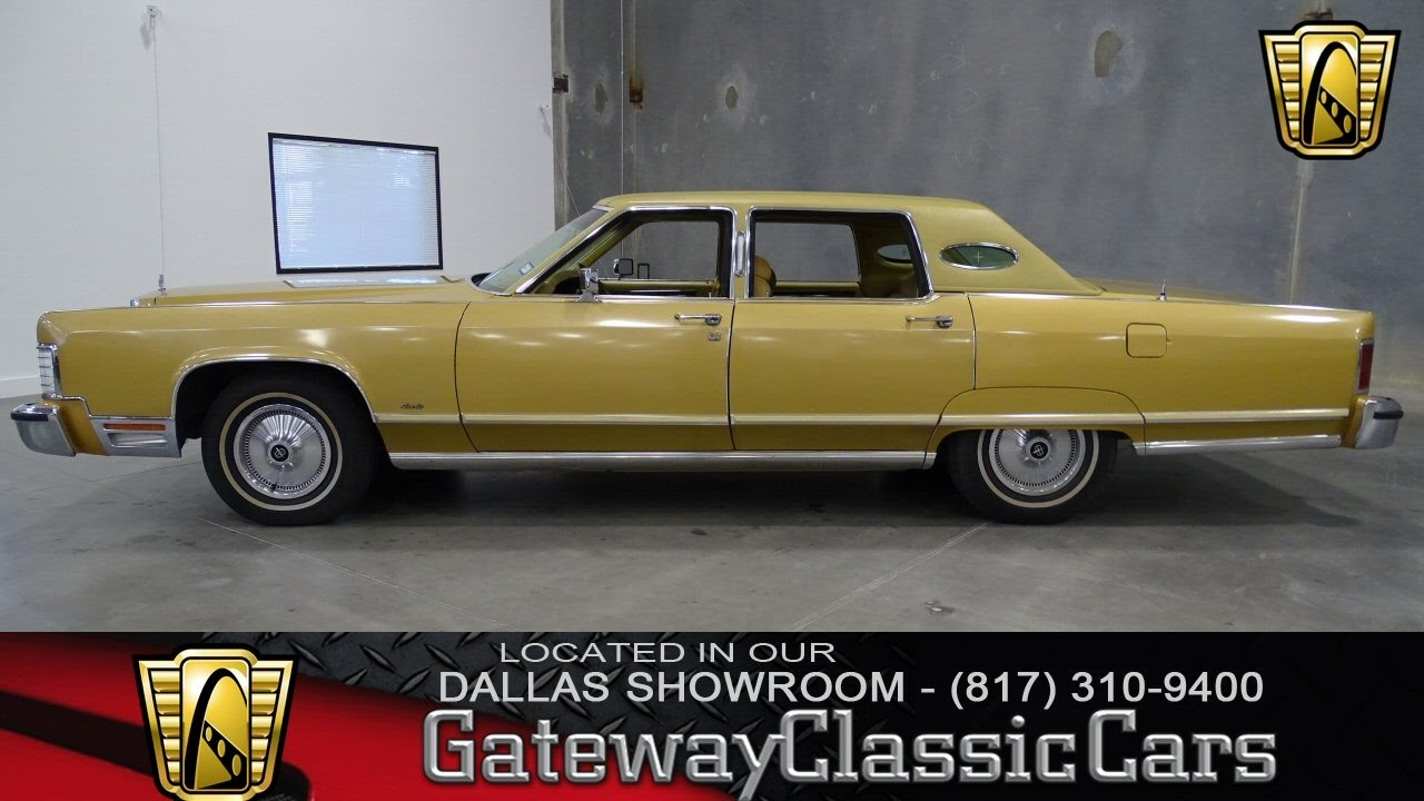 1977 Lincoln Continental Town Car 299 Dfw Gateway Classic Cars Of