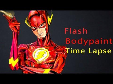 Flash  Body Paint Tutorial Time Lapse