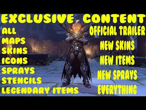 Overwatch Halloween Terror 2017 All Legendary Skins Sprays Icons stencils trailers and more