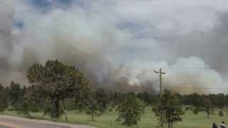 Forest fire near Black Forest, Colorado (Black forest fire)