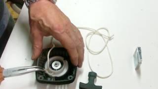 astuce remplacement corde lanceur moteur 1/5