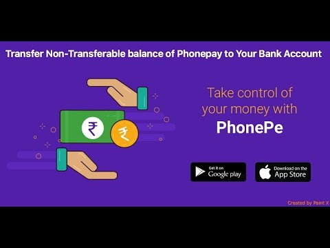 Trick To Transfer PhonePe Wallet Cashback into Bank