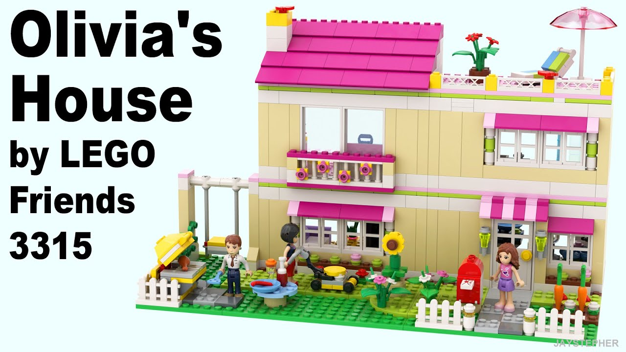 Review lego friends olivia 39 s house 3315 cc youtube for Olivia s garden pool instructions