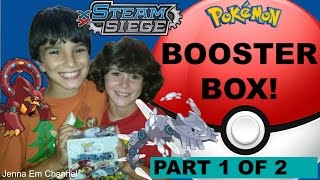 Best Pokemon XY Steam Siege Booster Box Opening Part 1 of 2! Jenna Em Channel