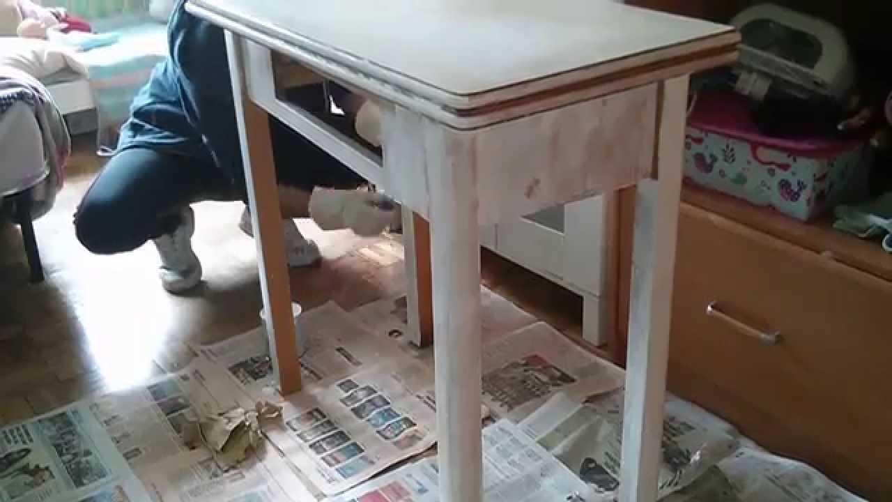 Restaurar una mesa como dar un cambio a un mueble viejo for Como restaurar un mueble viejo