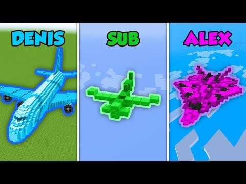 DENIS vs SUB vs ALEX - PLANE in Minecraft (The Pals)