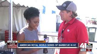 American Royal World Series of Barbecue smoking away at Kansas Speedway
