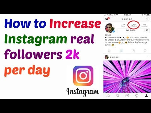 Increase Instagram real followers 2k per day | Get Free Unlimited Instagram  Followers Daily by Tips Tricks in hindi