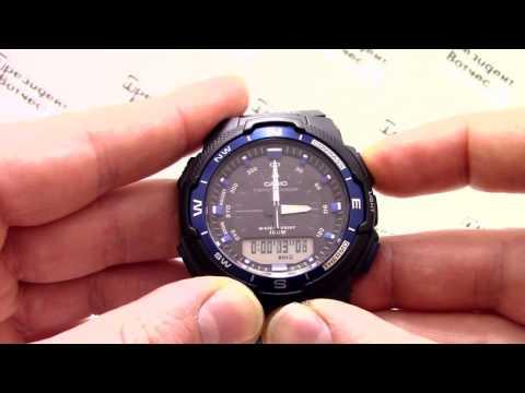 Часы Casio Outgear SGW-500H-2B [SGW-500H-2BER] - Инструкция, как настроить от PresidentWatches.Ru