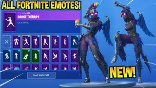 "*NEW* RAVAGE ""Raven Female"" SKIN SHOWCASE WITH ALL FORTNITE DANCES & EMOTES!!"