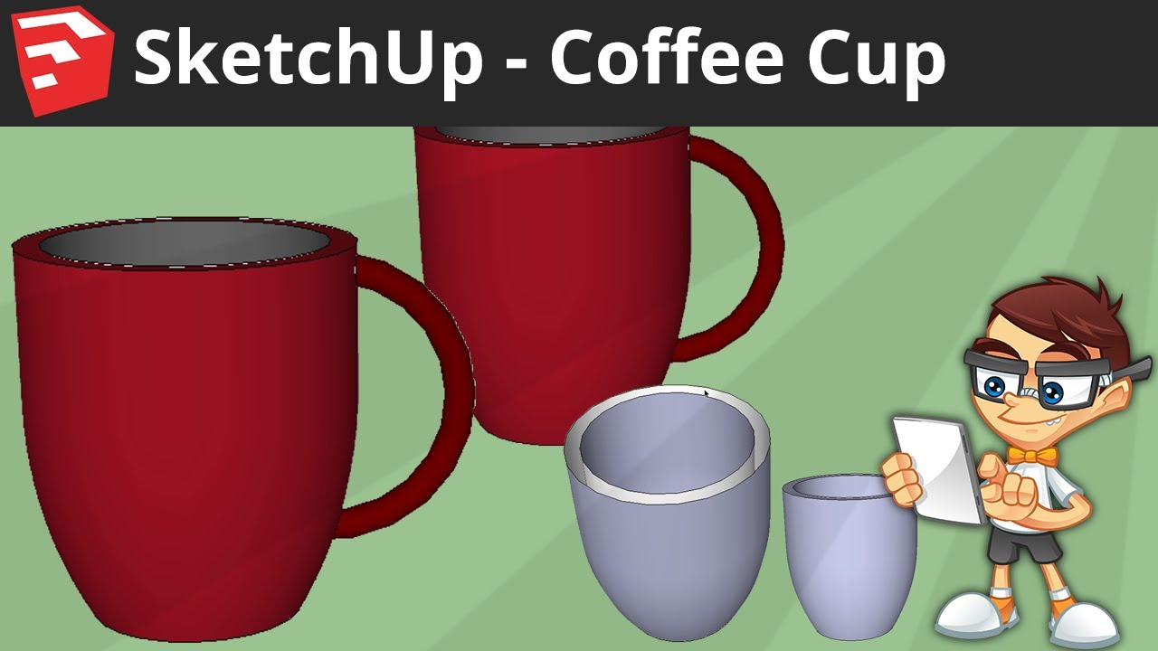 sketchup coffee cup youtube