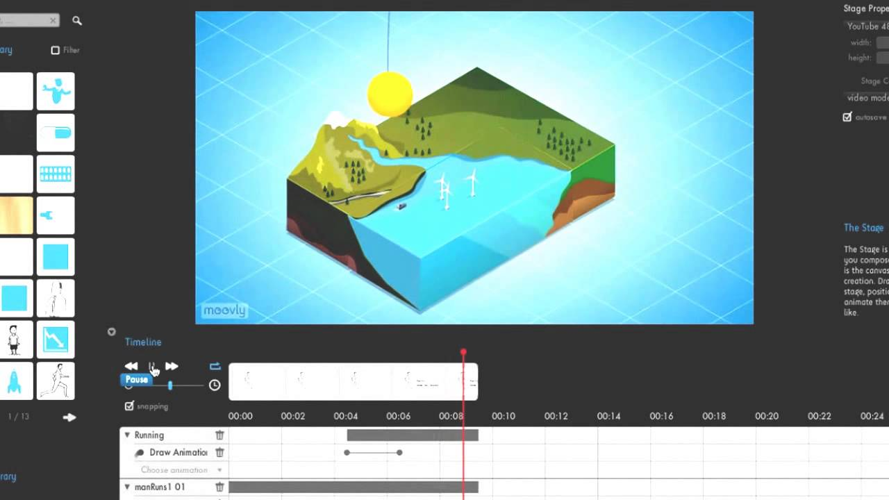 Animation software to create animated presentation video