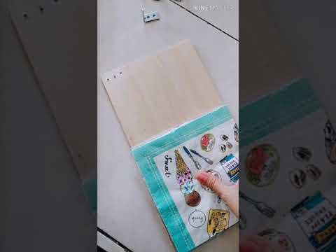 Diy paper napkin holder