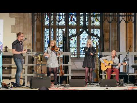 Singer Ainsley Hamill With Scottish Folk Band Barluath Performing My Husband's Got No Courage In Him