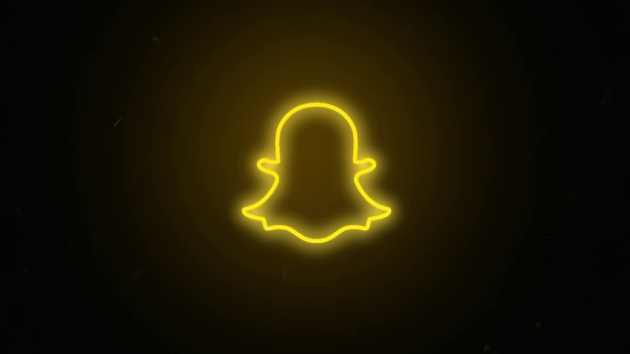 Social Media Snapchat Logo Neon Flickering Free Motion Graphics Youtube