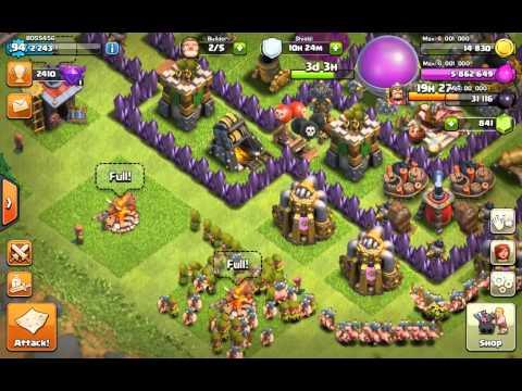 Clash of clans...barracks glitch