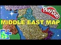 Map of the Middle East for Kids: Part 1 || Learn Geography for Kids || Play-Doh Puzzle