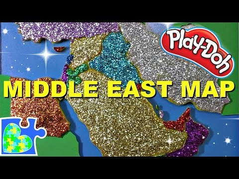 map-of-the-middle-east-for-kids:-part-1-||-learn-geography-for-kids-||-play-doh-puzzle