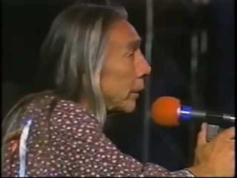 YouTube   Floyd Westerman Red Crow performs at the Rainbow Warrior Festival, 1988