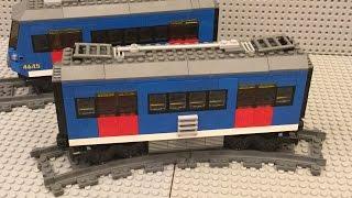 Самоделка Lego: поезд метро / Lego MOC:  underground train