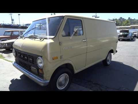 1971 Ford Econoline E100 Cargo Van E-100 Manual Work Truck Video Review Youngtimer