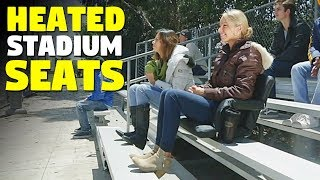 Heated Seats | This heated chair keeps you warm at games