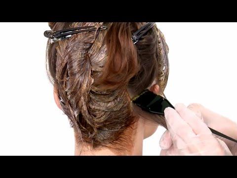 Окрашивание волос в медно-коричневый цвет с золотыми бликами