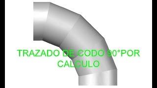 Trazado de codo 90° por Calculo