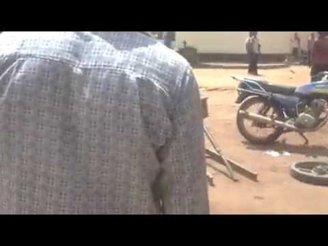 Cameroon military brutalized a civilian.
