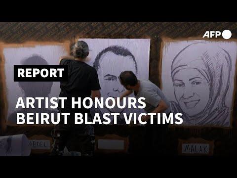 Artist memorialises Beirut blast victims with 204 portraits | AFP