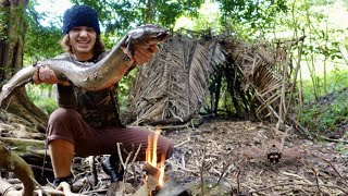 3 DAY Solo Survival Challenge (NO FOOD, NO WATER, NO SHELTER) Catch n Cook Pt.2
