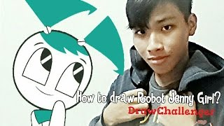 How To Draw Jenny Robot Girl - Draw Challenger