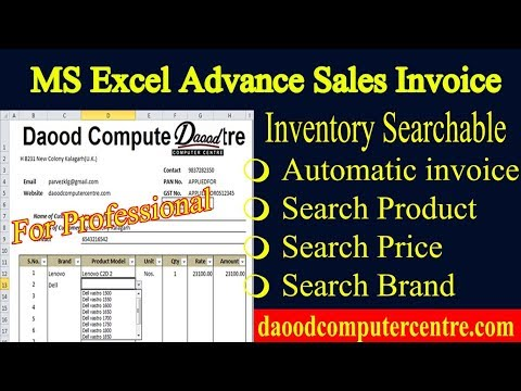 How to Make Billing Advance Invoice in Excel Part 1