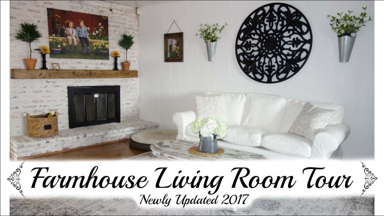 LIVING ROOM TOUR 2017 | FARMHOUSE STYLE MAKEOVER | MOMMA FROM ...