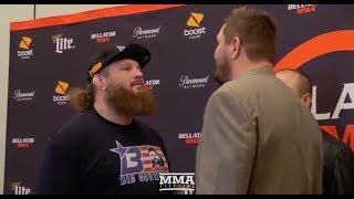 Roy Nelson vs. Matt Mitrione Bellator Grand Prix Staredown - MMA Fighting