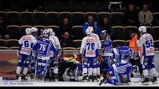 драка в матче villa lidkpingbk ifk vnersborg на vnercupen 2016 по хоккею с мячом