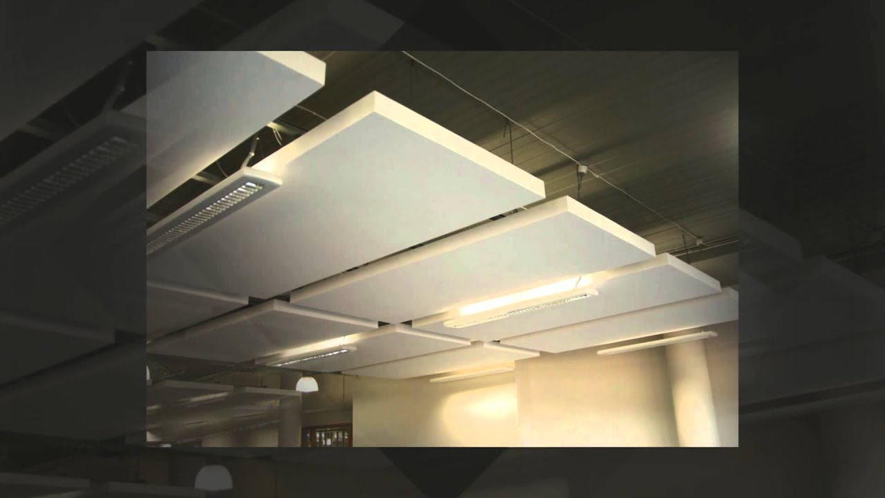 Acoustic clouds and baffles youtube for How to make clouds on ceiling
