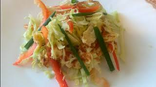 Легкий и безумно вкусный салатик// Салат с омлетом // Без майонеза