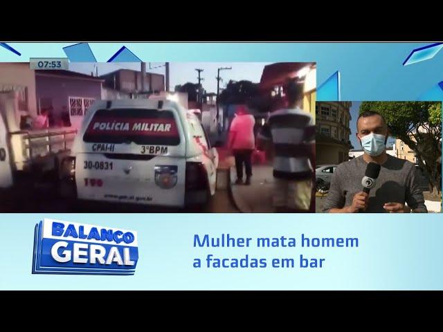 Arapiraca: Mulher mata homem a facadas em bar