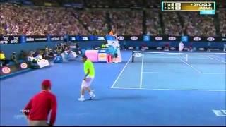 Australian Open 2012 Final - Djokovic left-handed vs Nadal right-handed - Set 3 of 5