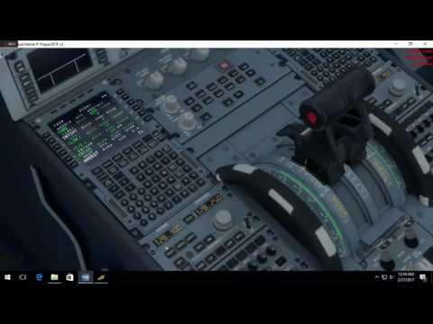 Tutorial Menerbangkan Pesawat Prepar3D V3.4 (Airbus Basic flight ) Surabaya (WARR)- Bali (WADD)