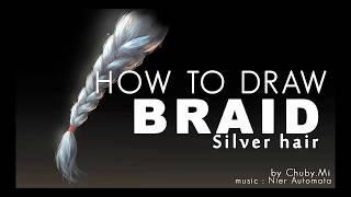 HOW TO DRAW HAIR - BRAID - SILVER HAIR