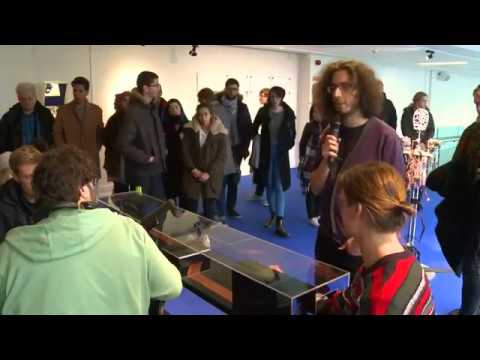 Pedro Lopes demonstrates Ad Infinitum at Science Gallery Dublin