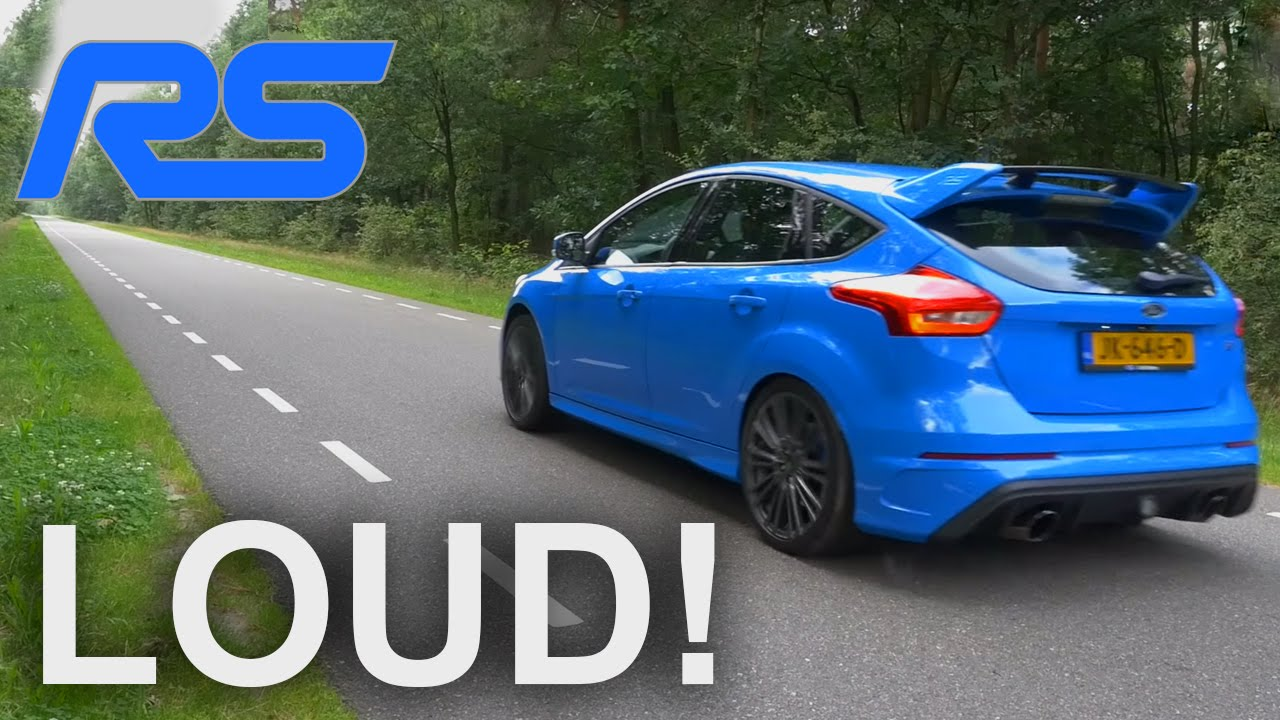 ford focus rs mk3 sound exhaust startup loud revs drift mode launch control by autotopnl